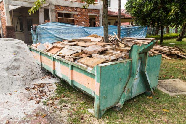 Container met bouwafval en sloopafval